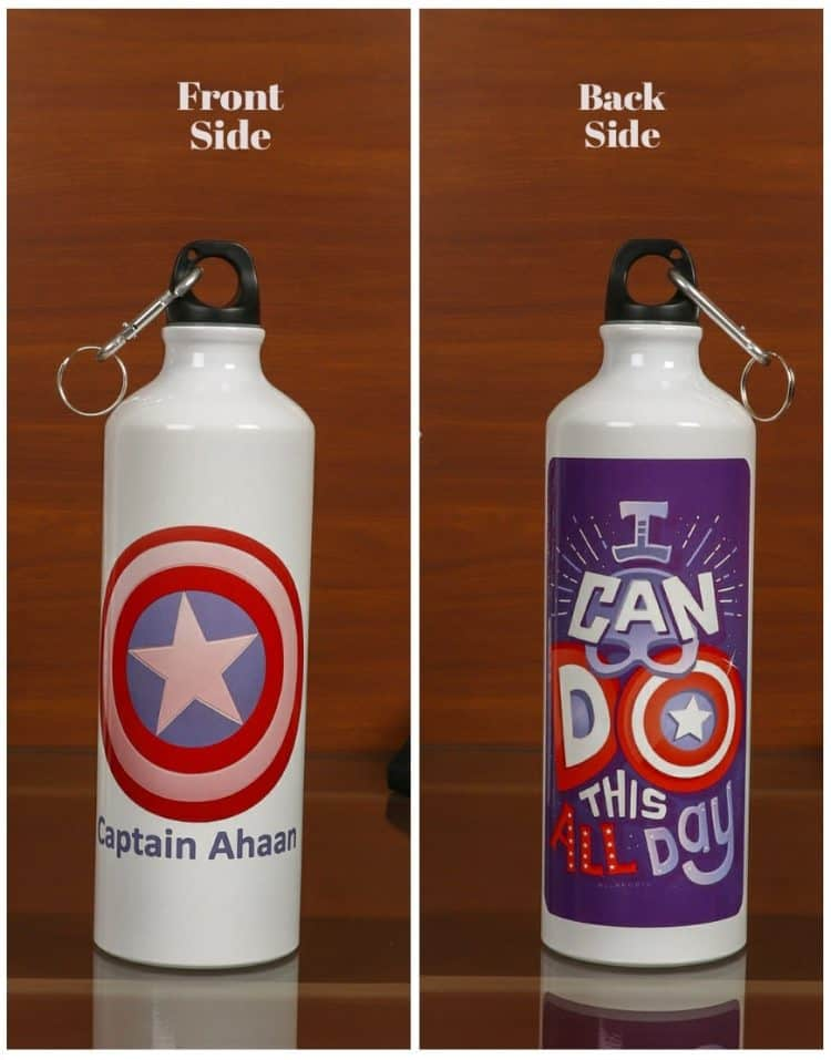 Personalized Steel Bottle-Captain America