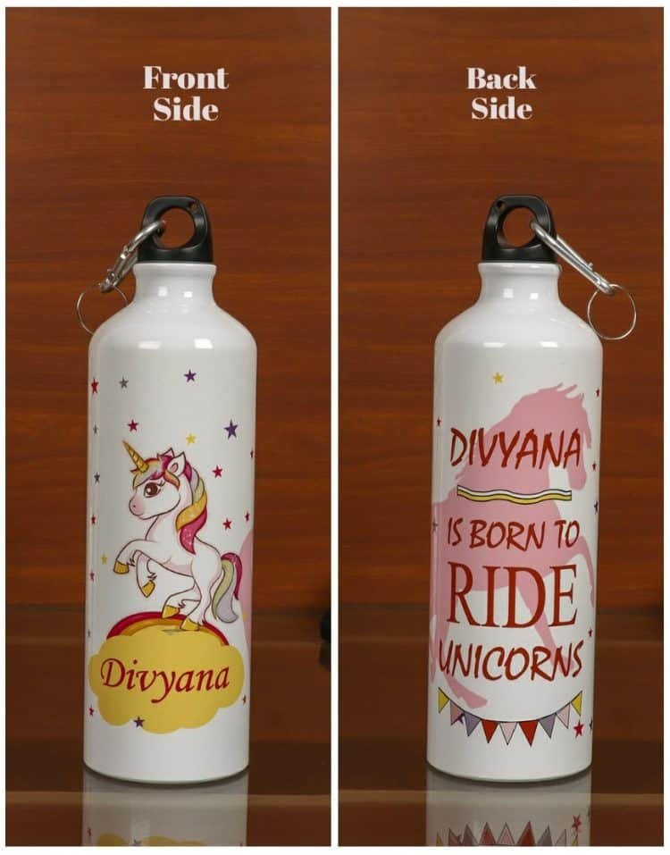 Personalized Steel Bottle- Unicorn